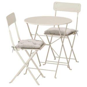 САЛЬТХОЛЬМЕН Стол+2 складных стула,д/сада - 692.863.02