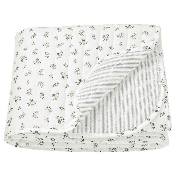 САНДЛУПИН Покрывало, белый, серый, 180x250 см - 804.511.59