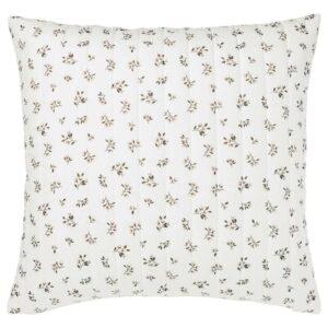 САНДЛУПИН Чехол на подушку, белый, серый, 65x65 см - 104.511.67