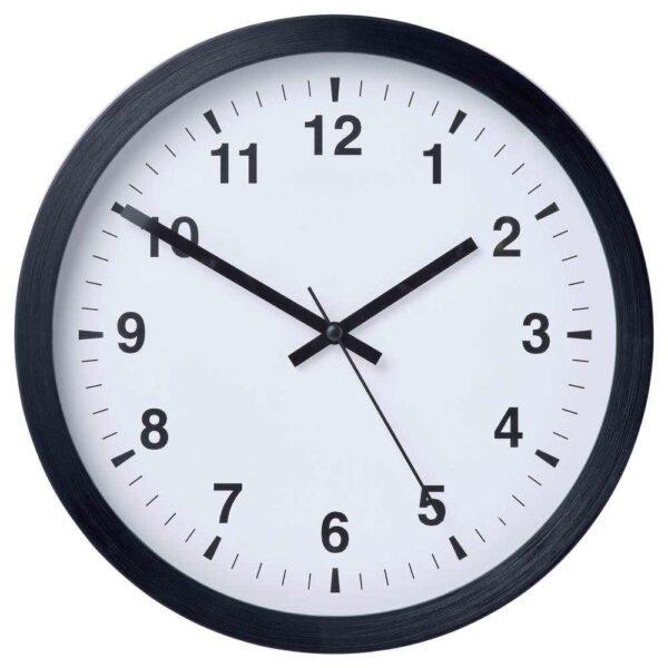 ЧАЛЛА Настенные часы, черный, 28 см - 004.662.11
