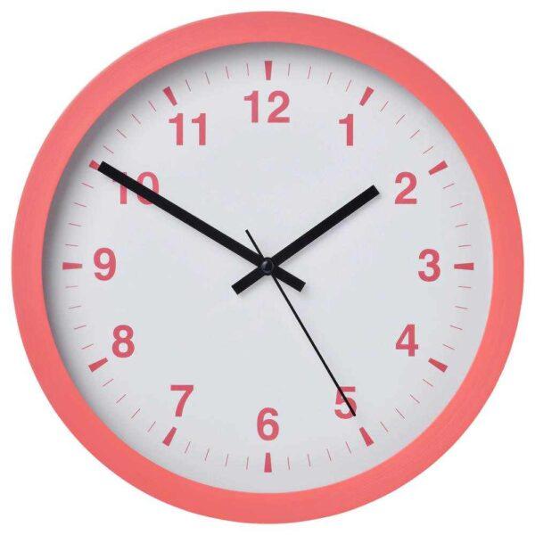 ЧАЛЛА Настенные часы, розовый, 28 см - 804.691.02
