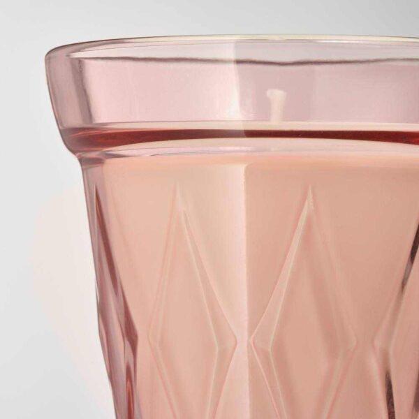 ВЭЛЬДОФТ Ароматическая свеча в стакане, лесная земляника, темно-розовый, 8 см - 204.423.04