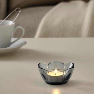 ВАНЛИГЕН Подсвечник для греющей свечи, серый, 4 см - 604.518.29
