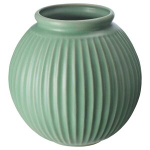 ВАНЛИГЕН Ваза, зеленый, 18 см - 004.518.46