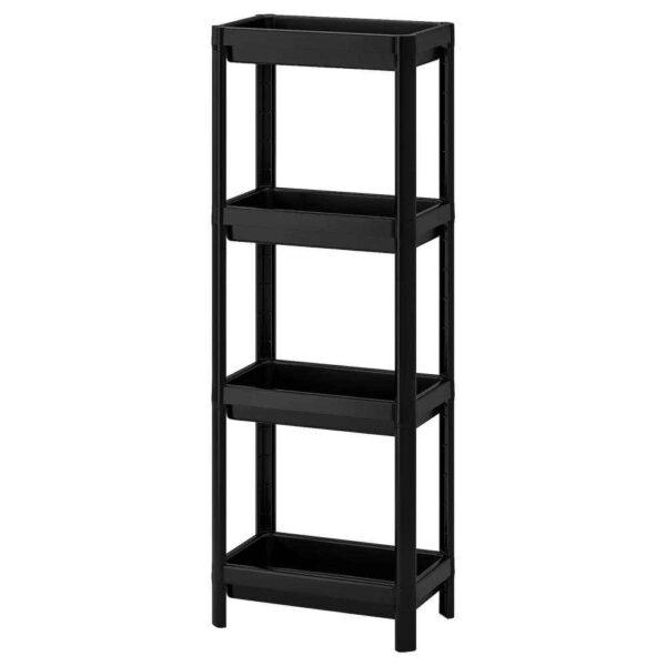 ВЕСКЕН Стеллаж, черный, 36x23x100 см - 304.508.12