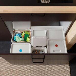 ХОЛЛБАР Контейнер д/органич отходов+крышка, светло-серый, 10 л - 404.338.84