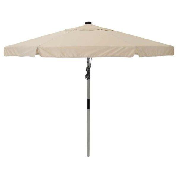 БЕТСО / ВОРХОЛЬМЕН Зонт от солнца, серый под дерево, бежевый, 300 см - 693.203.58