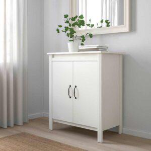 БРУСАЛИ Шкаф с дверями, белый, 80x93 см - 304.397.54
