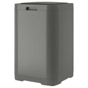 ГИГАНТИСК Контейнер с крышкой д/мусора, темно-серый, 60 л - 804.783.85