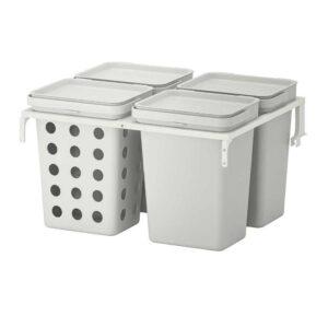 ХОЛЛБАР Решение для сортировки мусора, для кухонных ящиков МЕТОД вентилируемый, светло-серый, 40 л - 893.089.25