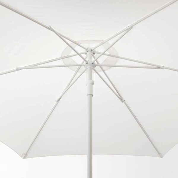 ХЁГЁН Зонт от солнца с опорой, белый, Хювон темно-серый, 270 см - 993.246.18