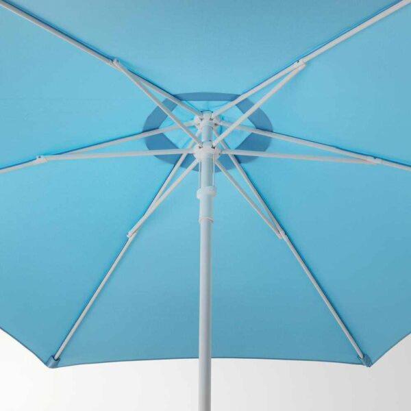 ХЁГЁН Зонт от солнца с опорой, голубой, Хювон темно-серый, 270 см - 293.205.72