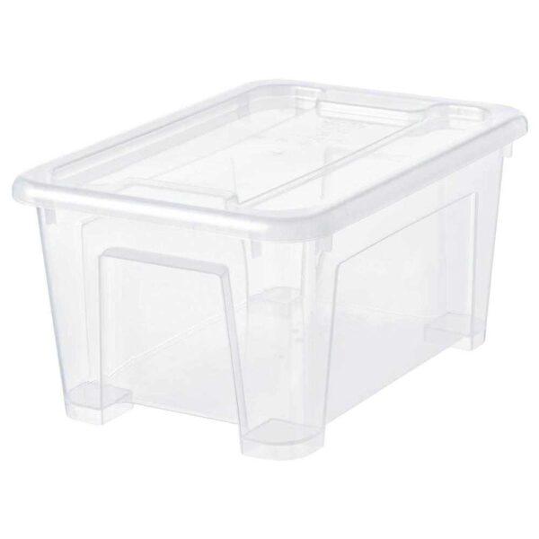 САМЛА Контейнер с крышкой, прозрачный, 28x20x14 см/5 л - 193.891.33
