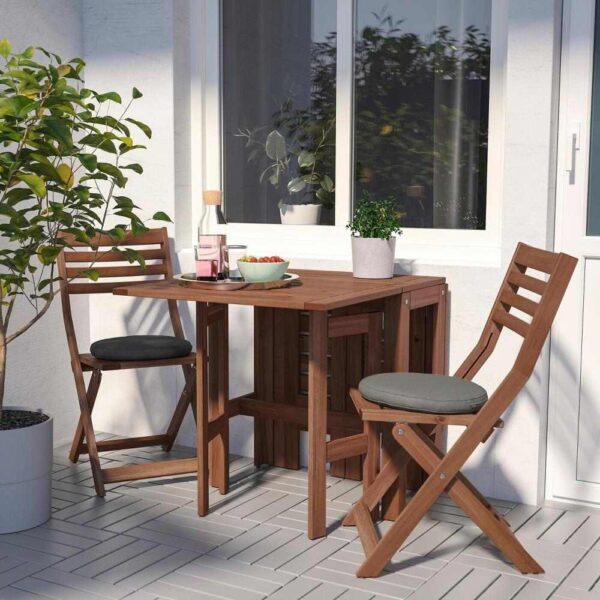 ЭПЛАРО Складной стол, садовый, коричневая морилка, 34/83/131x70 см - 004.197.95