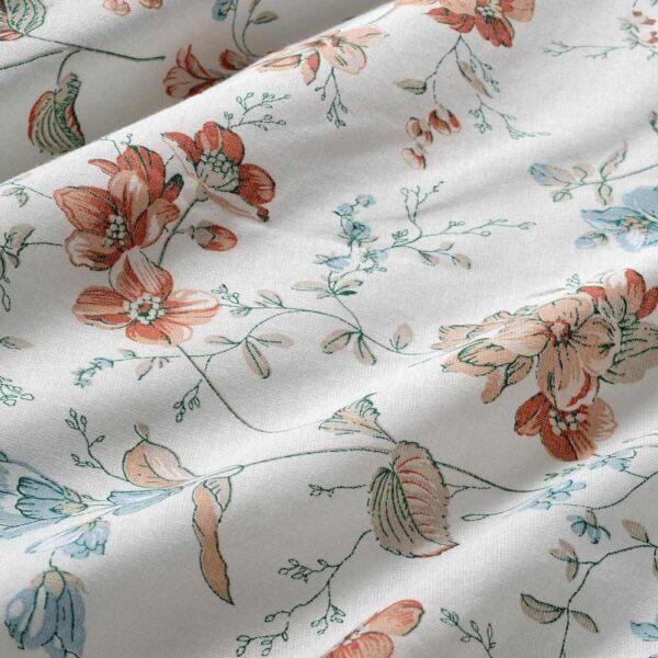ЭРТВИККЕР Пододеяльник и 1 наволочка, цветок, 150x200/50x70 см - 904.790.92