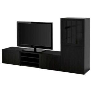 БЕСТО Шкаф для ТВ, комбин/стеклян дверцы - 193.306.42