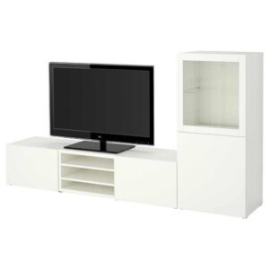 БЕСТО Шкаф для ТВ, комбин/стеклян дверцы - 593.294.15
