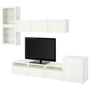 БЕСТО Шкаф для ТВ, комбин/стеклян дверцы - 993.310.63