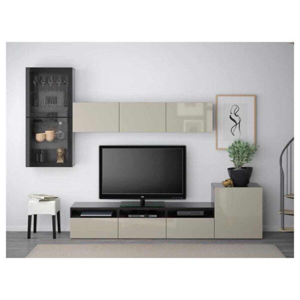 БЕСТО Шкаф для ТВ, комбин/стеклян дверцы - 093.309.87