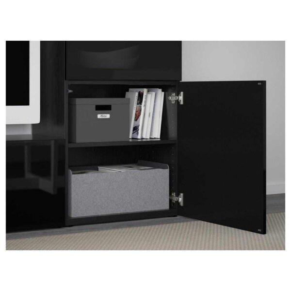 БЕСТО Шкаф для ТВ, комбин/стеклян дверцы - 093.295.40