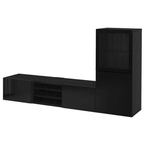 БЕСТО Шкаф для ТВ, комбин/стеклян дверцы - 993.294.61
