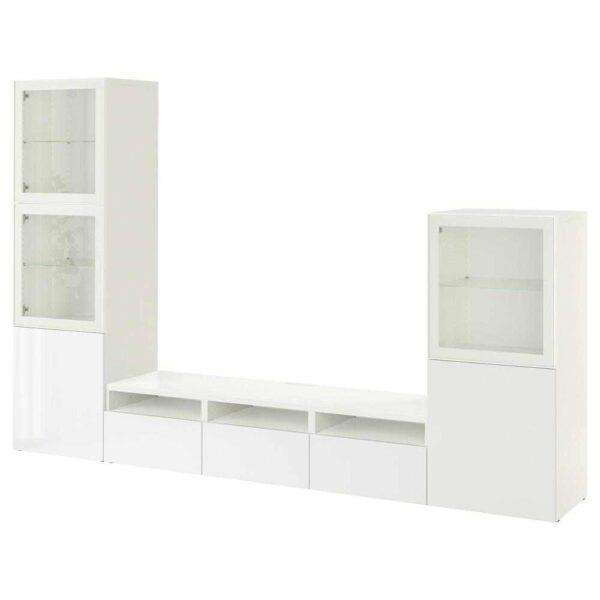 БЕСТО Шкаф для ТВ, комбин/стеклян дверцы - 993.307.75