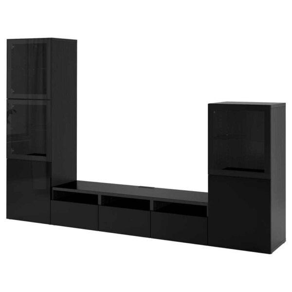 БЕСТО Шкаф для ТВ, комбин/стеклян дверцы - 093.307.65