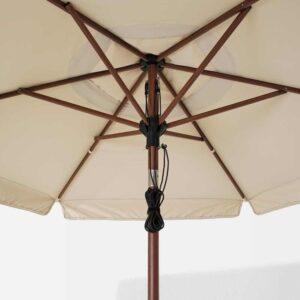 БЕТСО / ВОРХОЛЬМЕН Зонт от солнца с опорой, под коричневое дерево бежевый, Хювон, 300 см - 993.205.64