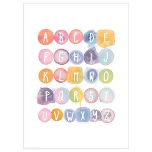 БИЛЬД Постер, Акварельный алфавит, 50x70 см - 004.738.29