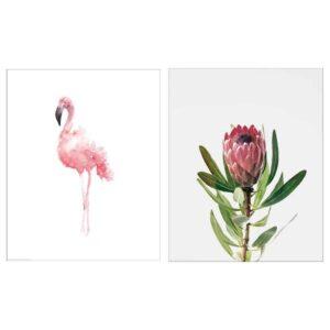 БИЛЬД Постер, Розовый фламинго, 40x50 см - 504.738.36