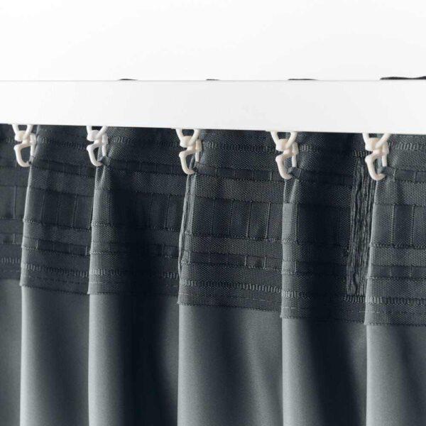 БЛОХУВА Гардины, блокирующие свет, 1 пара, сине-серый, 145x300 см - 804.654.63