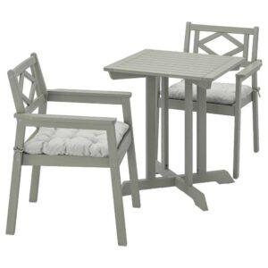 БОНДХОЛЬМЕН Садовый стол и 2 легких кресла, серый морилка, Куддарна серый - 093.360.03