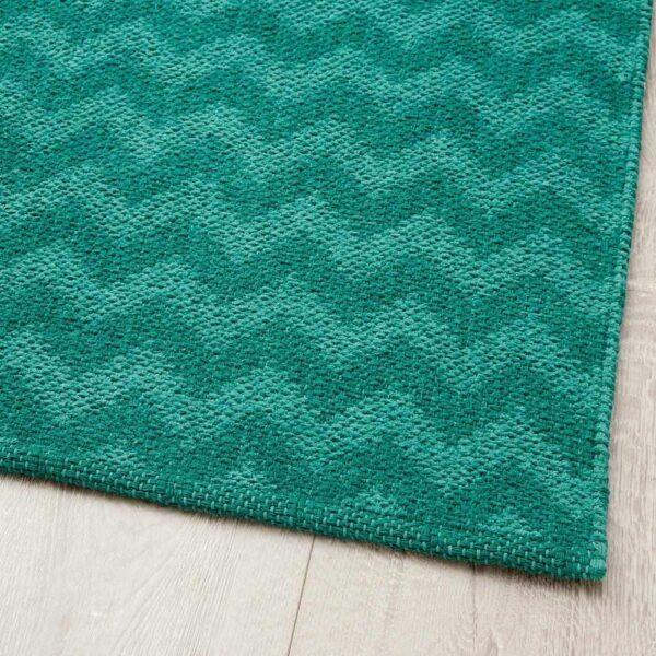 БРЕДЕВАД Ковер безворсовый, зигзаг зеленый, 75x150 см - 804.677.25