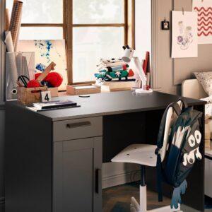 БРИМНЭС Письменный стол, черный, 120x65 см - 704.740.24