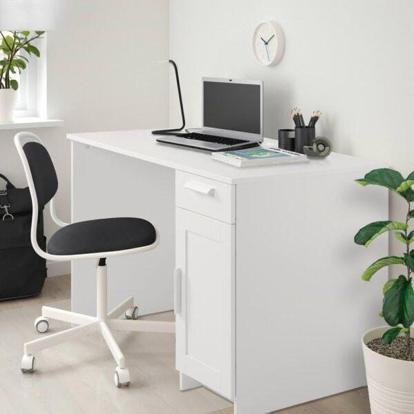БРИМНЭС Письменный стол, белый, 120x65 см - 904.740.23