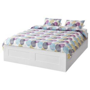 БРИМНЭС Кровать с подъемным механизмом, белый, 160x200 см - 704.852.11