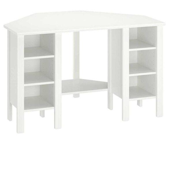 БРУСАЛИ Угловой письменный стол, белый, 120x73 см - 004.397.60