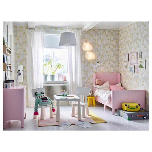 БУСУНГЕ Раздвижная кровать, светло-розовый, 80x200 см - 604.598.30