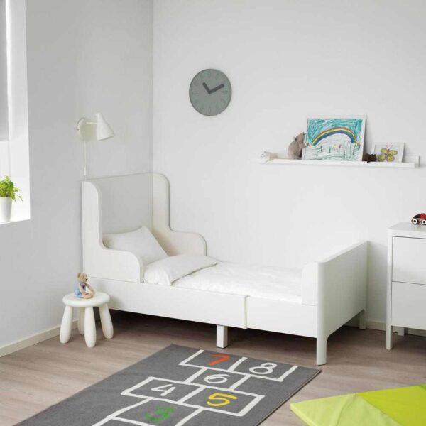 БУСУНГЕ Раздвижная кровать, белый, 80x200 см - 404.598.31