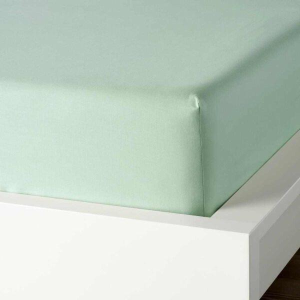 ДВАЛА Простыня натяжная, светло-зеленый, 180x200 см - 604.597.31