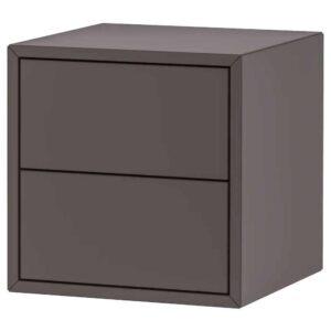 ЭКЕТ Шкаф с 2 ящиками, темно-серый, 35x35x35 см - 504.289.19