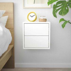 ЭКЕТ Навесной шкаф с 2 ящиками, белый, 35x35x35 см - 293.293.89