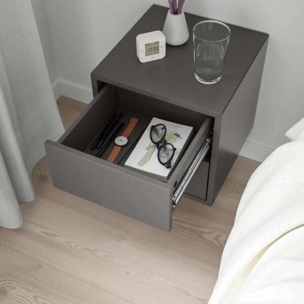 ЭКЕТ Навесной шкаф с 2 ящиками, темно-серый, 35x35x35 см - 893.293.86
