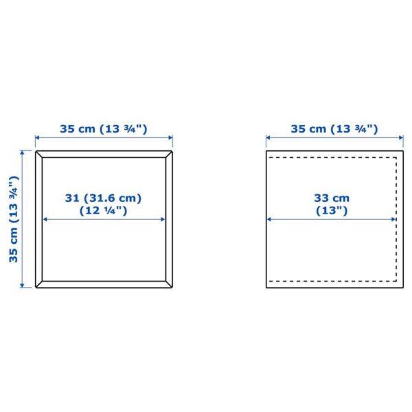 ЭКЕТ Навесной шкаф со стеклянной дверью, под беленый дуб, 35x35x35 см - 793.363.73