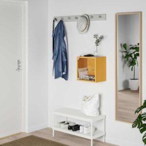 ЭКЕТ Навесной шкаф со стеклянной дверью, золотисто-коричневый, 35x25x35 см - 393.363.46