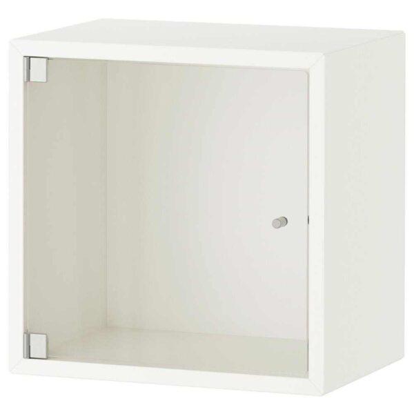 ЭКЕТ Навесной шкаф со стеклянной дверью, белый, 35x25x35 см - 893.363.58