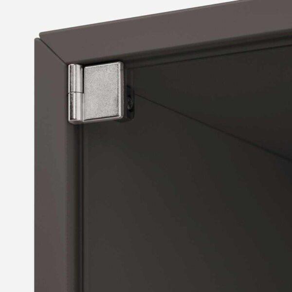 ЭКЕТ Навесной шкаф со стеклянной дверью, темно-серый, 35x35x35 см - 293.363.61