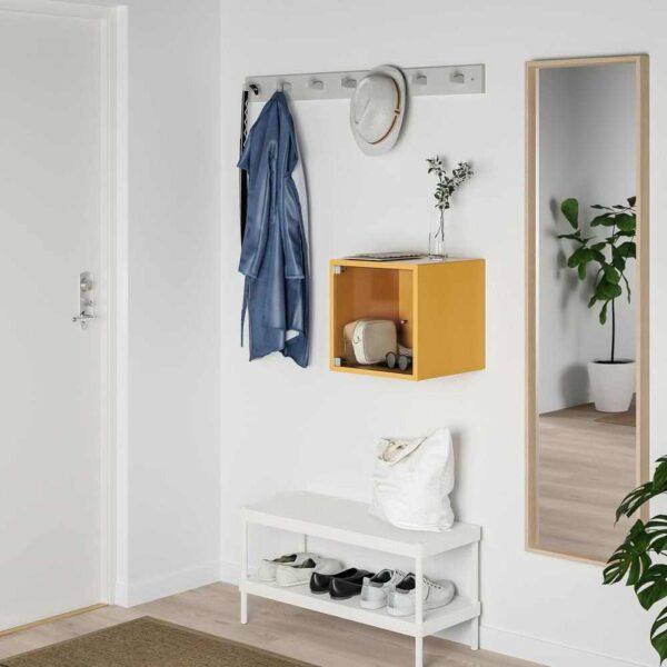 ЭКЕТ Навесной шкаф со стеклянной дверью, золотисто-коричневый, 35x35x35 см - 693.363.64
