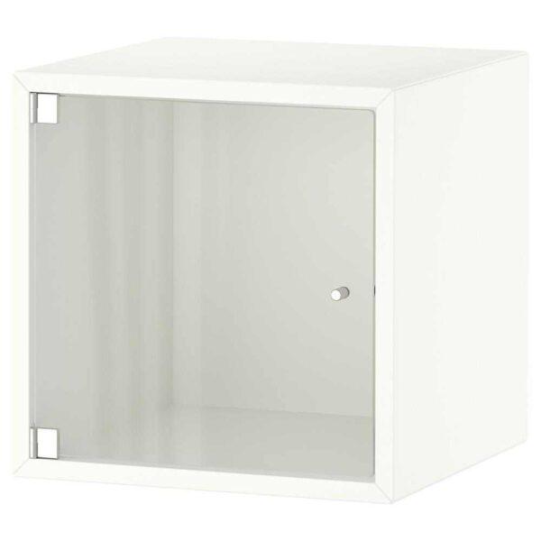ЭКЕТ Навесной шкаф со стеклянной дверью, белый, 35x35x35 см - 093.363.76