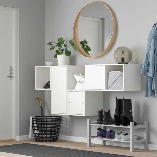 ЭКЕТ Комбинация настенных шкафов, белый, 175x35x70 см - 193.293.99